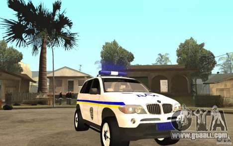 BMW X 5 DAÌ for GTA San Andreas back view