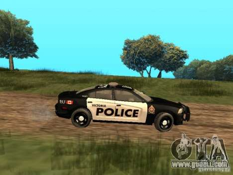 Dodge Charger Canadian Victoria Police 2011 for GTA San Andreas back left view