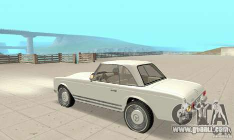 Mercedes-Benz 280SL (glossy) for GTA San Andreas back view