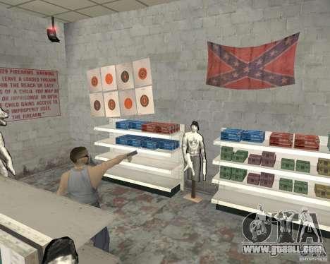 A bustling shop Ammu-Nation v3 (Final) for GTA San Andreas fifth screenshot