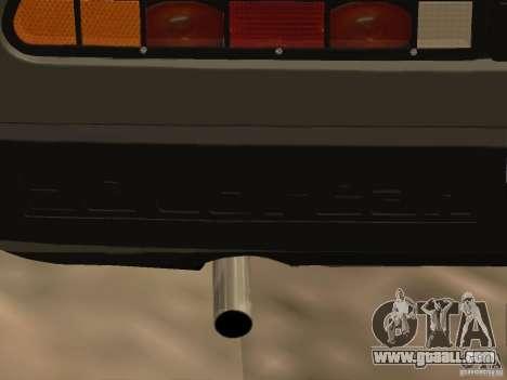 DeLorean DMC-12 for GTA San Andreas inner view