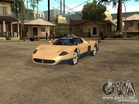Maserati MC12 for GTA San Andreas