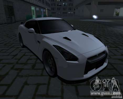 Nissan GTR-35 Spec-V for GTA San Andreas back left view