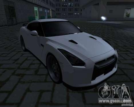 Nissan GTR-35 Spec-V for GTA San Andreas back left view