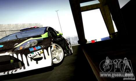 Ford Fiesta Gymkhana 4 for GTA San Andreas inner view