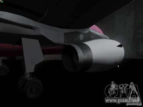 Airbus A319 Spirit of T-Mobile for GTA San Andreas back view
