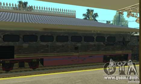 Camo train for GTA San Andreas back left view