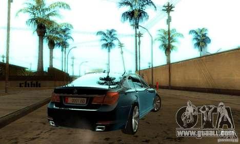 BMW 750Li for GTA San Andreas inner view
