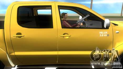 Toyota Hilux SRV 4x4 for GTA Vice City back view