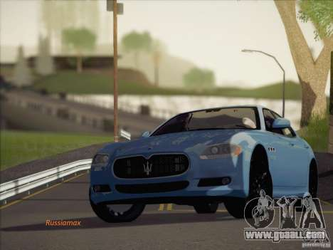 Maserati Quattroporte v3.0 for GTA San Andreas