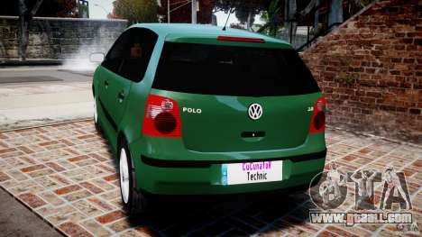 Volkswagen Polo 2.0 2005 for GTA 4 back left view