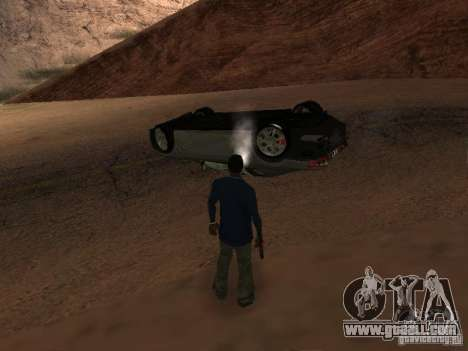 Overturned cars don't burn for GTA San Andreas sixth screenshot