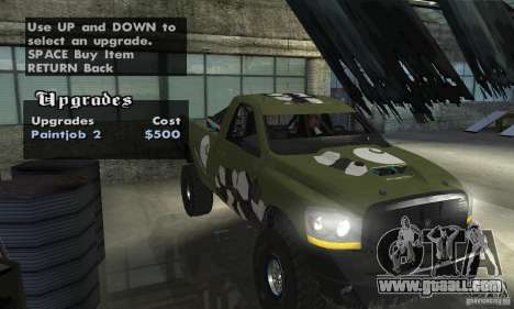 Dodge Power Wagon Paintjobs Pack 1 for GTA San Andreas right view