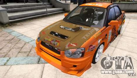 Subaru Impreza WRX STi GDB Team Orange for GTA 4 right view