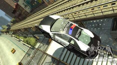 Lamborghini Reventon Police Hot Pursuit for GTA 4 inner view