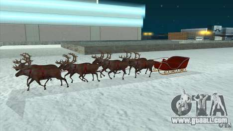 Does Santa's team for GTA San Andreas back left view
