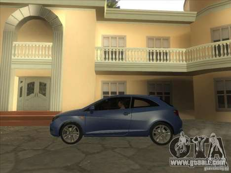 Seat Ibiza 2008 for GTA San Andreas back left view