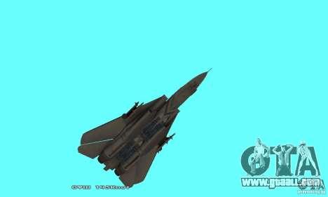 F14W Super Weirdest Tomcat Skin 1 for GTA San Andreas bottom view