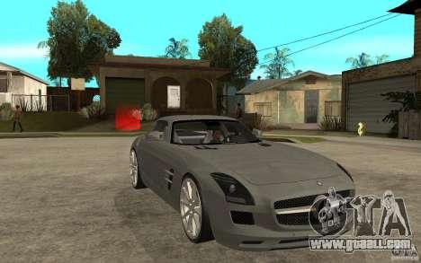 Mercedes-Benz SLS for GTA San Andreas back view