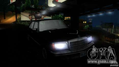 Mercedes Benz 560SEL w126 1990 v1.0 for GTA San Andreas inner view