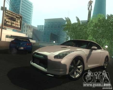 Nissan GTR R35 Spec-V 2010 Stock Wheels for GTA San Andreas interior