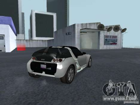 Smart Roadster Coupe for GTA San Andreas back left view