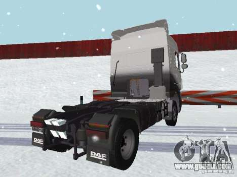 DAF XF105 for GTA San Andreas back view