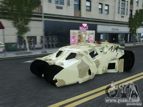 HQ Batman Tumbler for GTA 4 back left view