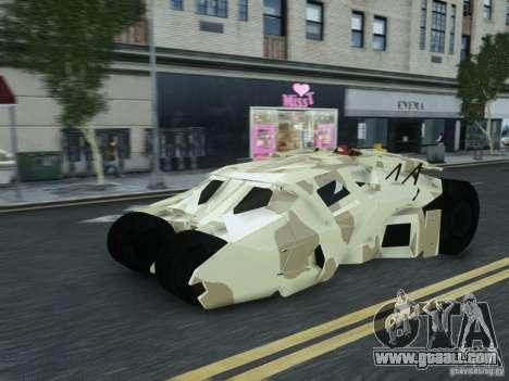HQ Batman Tumbler for GTA 4 back left view