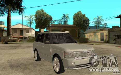 Land Rover Range Rover Supercharged 2009 for GTA San Andreas back view