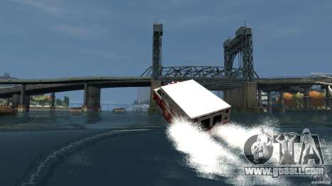Ambulance boat for GTA 4 upper view