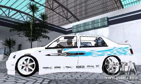 Volkswagen Jetta FnF for GTA San Andreas back left view