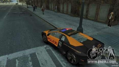 Lamborghini Reventon Police Hot Pursuit for GTA 4 right view