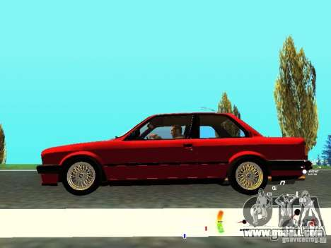 BMW E30 87-91 for GTA San Andreas inner view