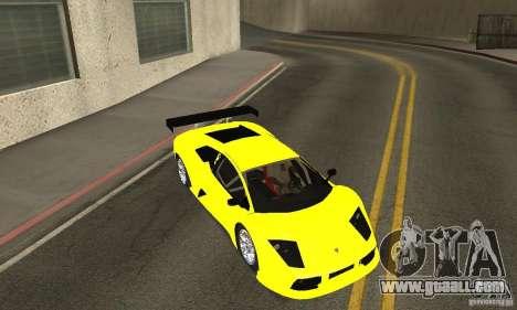 Lamborghini Murcielago R GT for GTA San Andreas upper view