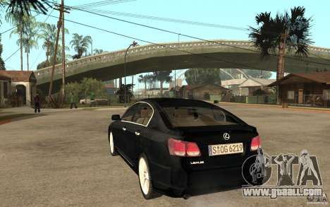 Lexus GS430 2007 for GTA San Andreas back left view