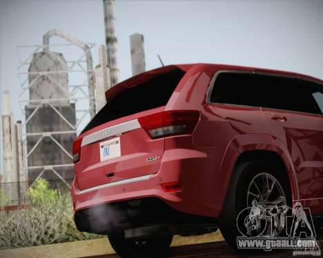 Jeep Grand Cherokee SRT-8 2012 for GTA San Andreas side view