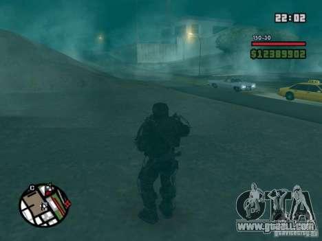 Military stalker in èkzoskelete for GTA San Andreas third screenshot