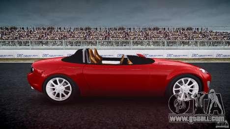 Mazda Miata MX5 Superlight 2009 for GTA 4 inner view