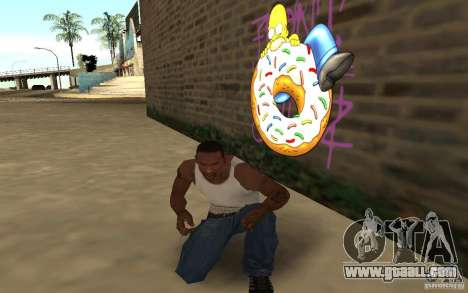 Homer Graffiti Mod for GTA San Andreas third screenshot
