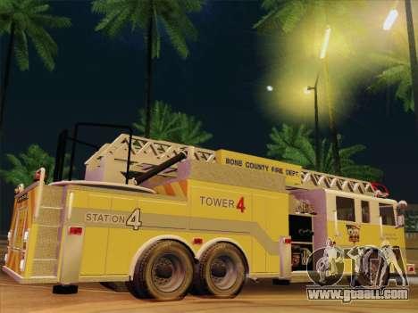 Pierce Arrow XT BCFD Tower Ladder 4 for GTA San Andreas interior