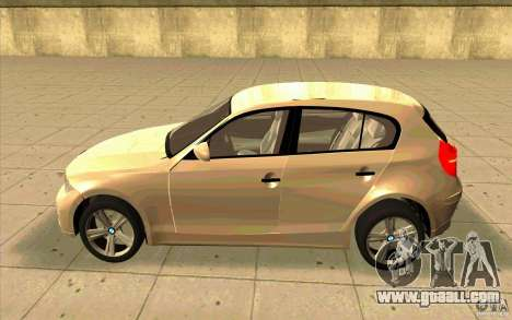 BMW 118i for GTA San Andreas left view