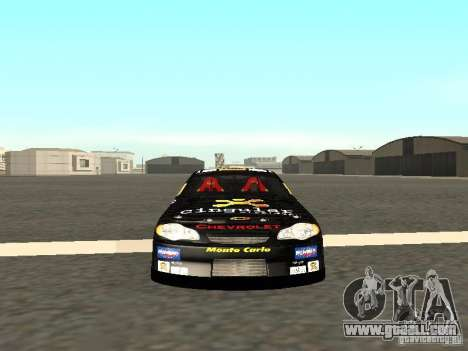 Chevrolet Monte Carlo Nascar CINGULAR Nr.31 for GTA San Andreas back view