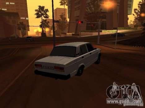 VAZ 2107 Azeri full for GTA San Andreas back left view