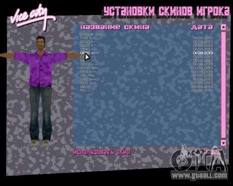 Violet shirt for GTA Vice City forth screenshot