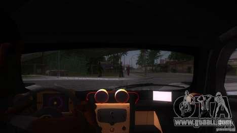 Pagani Zonda R for GTA San Andreas interior