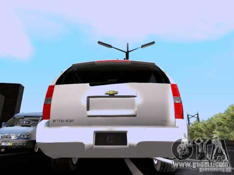 Chevrolet Tahoe LTZ 2013 for GTA San Andreas right view