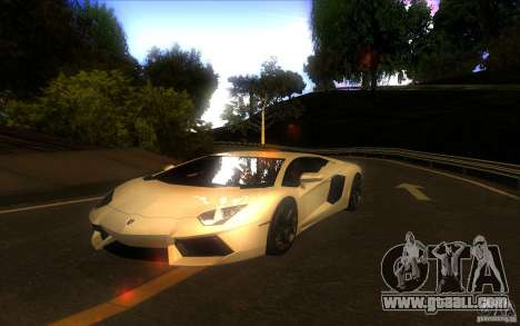 Lamborghini Aventador LP700-4 for GTA San Andreas back view