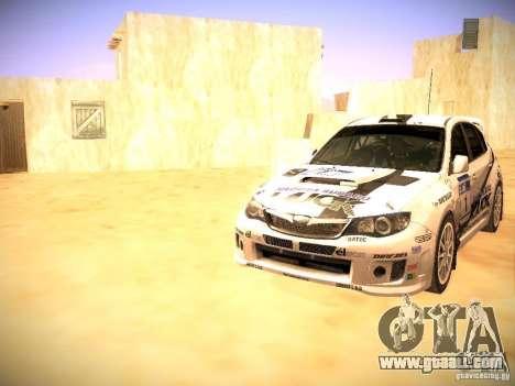Subaru impreza Tarmac Rally for GTA San Andreas engine