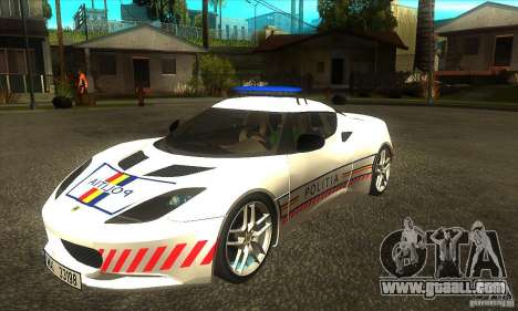 Lotus Evora S Romanian Police Car for GTA San Andreas